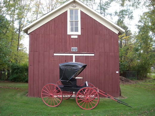 Image result for carriage barn red